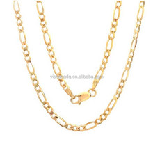 2015 Hot Sale Gold Filled Chain Custom Stainelss Steel Jewelry Gold Filled Figaro Chain for Wholesale