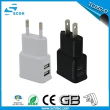 Hot new model usb travel charger eu power plug for samsung power adapter TC052