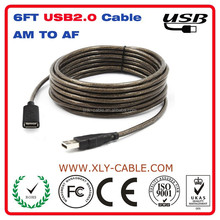 6ft USB 2.0 A Male to A Female Extension Cable