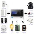 Sms avec fixe sans fil WIFI sécurité système d'alarme système de sécurité à énergie et gestion de la santé bricolage avec un bon service