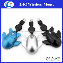 Mini Airplane Mouse With Retracted Cable For Laptop Mouse
