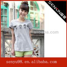 100% cotton summer fashion logo t shirts in china