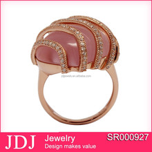 Fashion American Style Wedding Ring With Rose Gold Plating