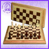 High quality & professional folding wooden chess game set