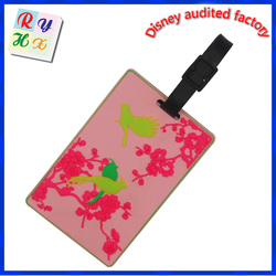 custom wholesale high quality cheap silicone /rubber /pvc luggage tag