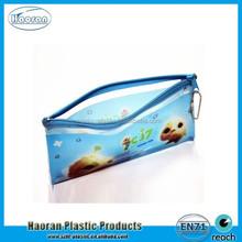 2015 promotion gift cartoon design small pvc zipper pencil bag, PVC pen case wallet