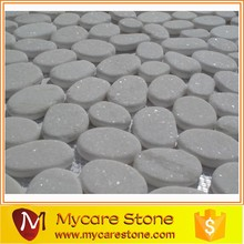 Hot selling Flat & white river rocks wholesale, flat pebble on sale
