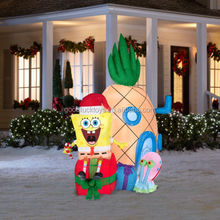New 6.98-ft Lighted Spongebob Christmas Airblown Inflatable Yard Outdoor
