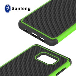 Top seller tpu pc silicone 3 layers combo case for galaxy s6 dege plus amor shockproof phone cover