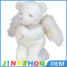 with wings white stuffed bear plush toys angel