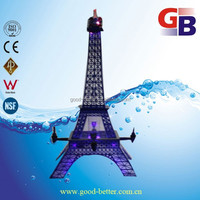 2015 Hot selling 3L Plastic Eiffel Tower type beer tower with Led fight