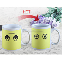 mugs promotional ceramic 11oz paint that changes color with temperature mug