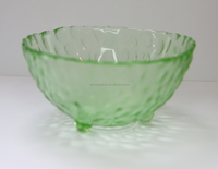 colorful glass salad/ sauce bowl by man made for hotel/resterant with stem