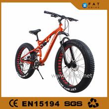 "27 Speeds 26x4.0"" full suspension Fat Tire Snow Mountain Bike 26 Beach Bike Fat Bikes"