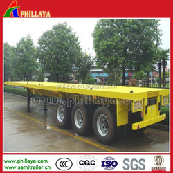 3Axles Container Vehicle Flatbed Trailer with Container Twist Lock For 20ft-40ft Transporting
