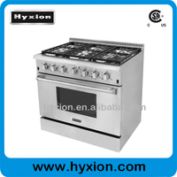 2015 hot sales gas stove 6 burners , 6 burners gas range with oven
