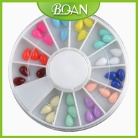 12 Mix Drop Water Design Resin Fluorescent Color 3D Nail Decoration Wheel