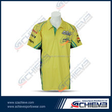 custom sublimation Polyester polo t-shirt
