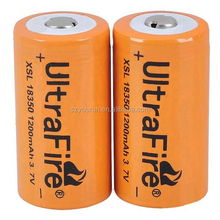 High quality 18350 li-ion battery ultrafire 18350 1200mah 3.7v 18350 li-ion battery
