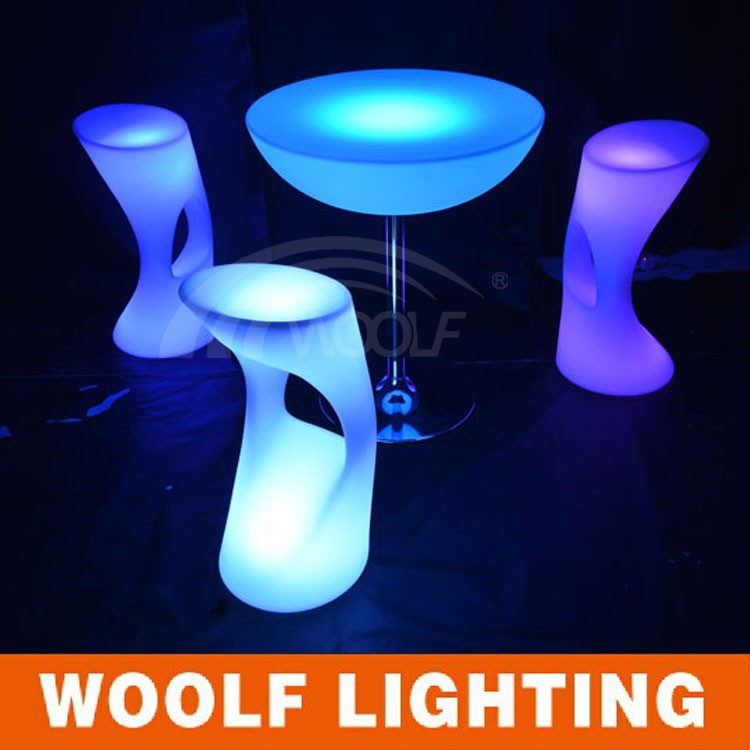 Party Bar Wedding Furniture White Led Chair Glowing Chair