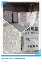High purity precipitated Barium Sulfate 98% (BaSO4)