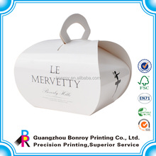 Cheap Portable customized paper cupcake box packaging