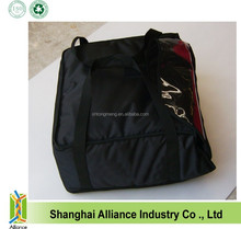 New style Black colour 600D nylon fabric pizza delivery bag