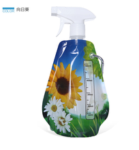 2015 hot sale foldable water bottle bag with carabiner BPA free