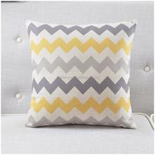 Geometric Plain Cotton Linen Light Color Back Cushion Waist Pillow