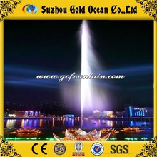 Lake Decoration Floating High Spray Fountain Night Lake Show