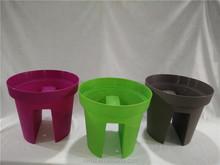 new product Plastic baluster flowerpot balcony planter, Railing Planter
