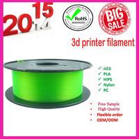 Premium free shipping plastic processed abs/pla/pp/pva 3d printing material
