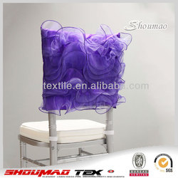 wholesale cheap chiffon customized flower chair covers