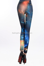 fashion high waist sexy female galaxy spandex leggings pics