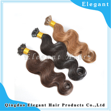 Double Drawn Flat Tip Pre Bonded Hair Extension, wave Indian Remy Keratin Hair