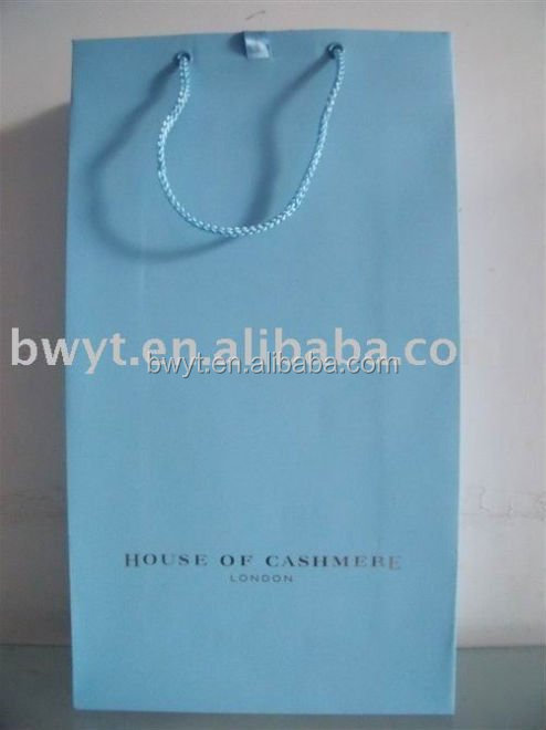 Hot-Selling Paper Shopping Bag, paper laminated promotional shopping bag