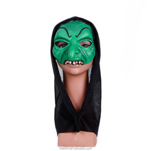 Carnival/Party Half Green Face ghost Mask with EN71 Testing Report