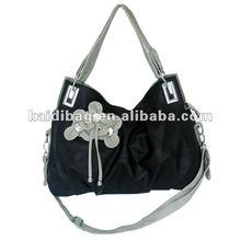 2012 Designer bag leather handbag for women(black)(KD8329-29(1))