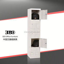 IGO-045 Economy Stuff Use Lockable three door clothes steel locker