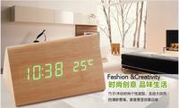 Creative Natural Wood Digital Desktop Clock