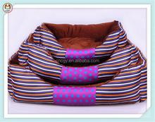 Good quality luxury stripe dog sofa pet bed
