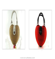Export Rattan weave Heart style Straw bag Lady bag