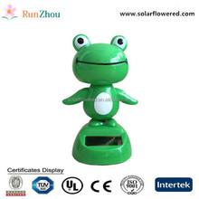 Cute swing frog, a solar swing doll