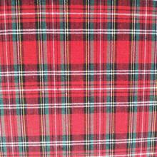 Wholesale High Quality red black plaid fabric