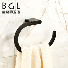 17932 modern excellent black bathroom accessories set durable towel ring