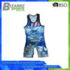 High quality Crazy Selling sublimation print wrestling singlet