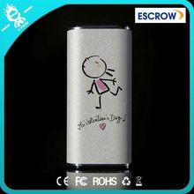 valentines gift smart powerbank 5200mah with LED indicator