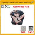 2014 personalizado venda quente gel macio sexo gril cartoon 3d mouse pad