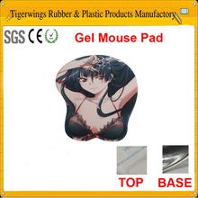 2015 hot sale custom gel soft sex gril cartoon 3d mouse pad