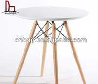 MDF round modern office coffee ikea DSW table replica